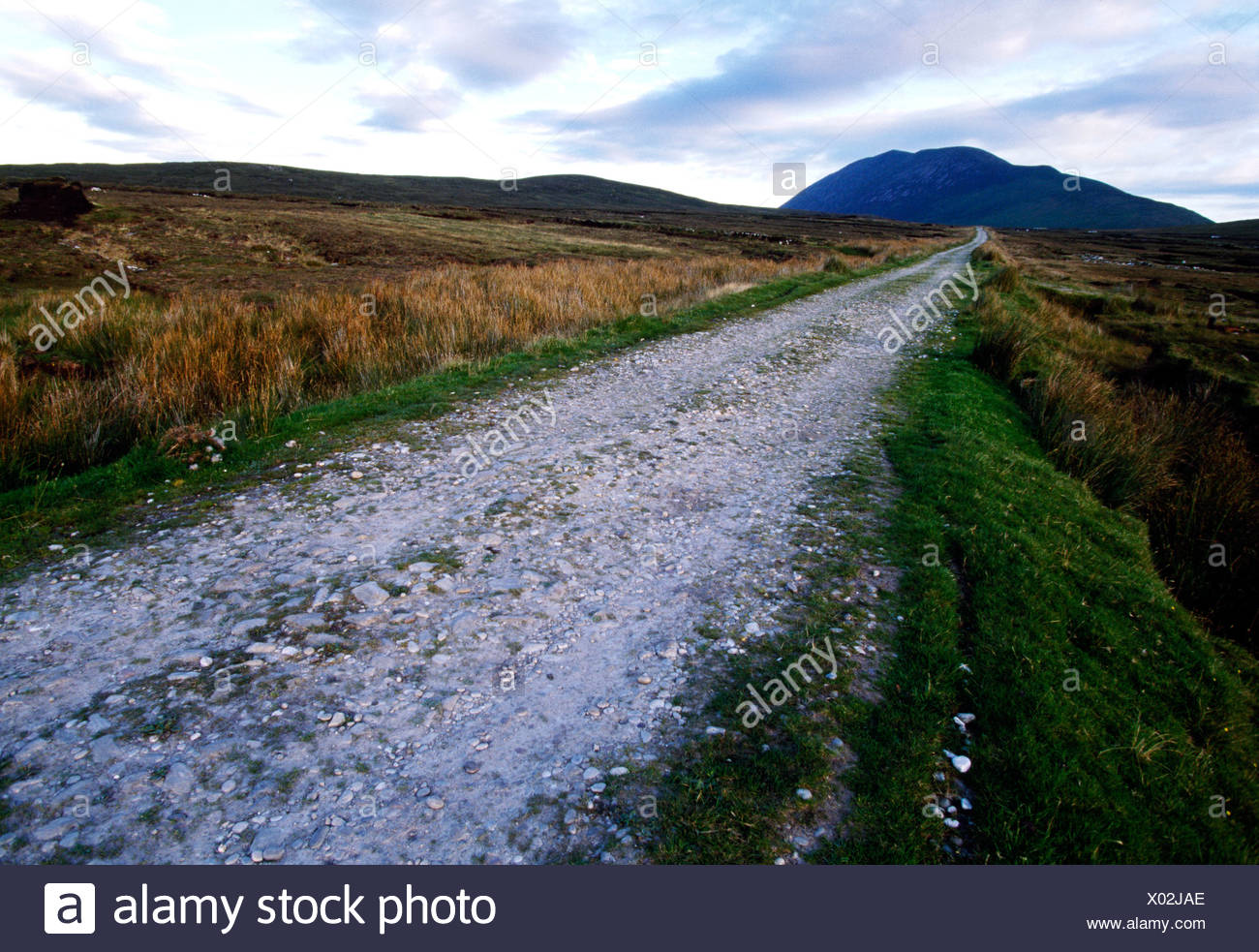 Slievemore Mountain, Achill Island, County Mayo, Ireland Stock Photo