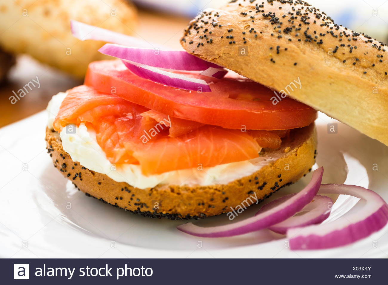 Nova Scotia salmon also called Nova lox - Stock Image