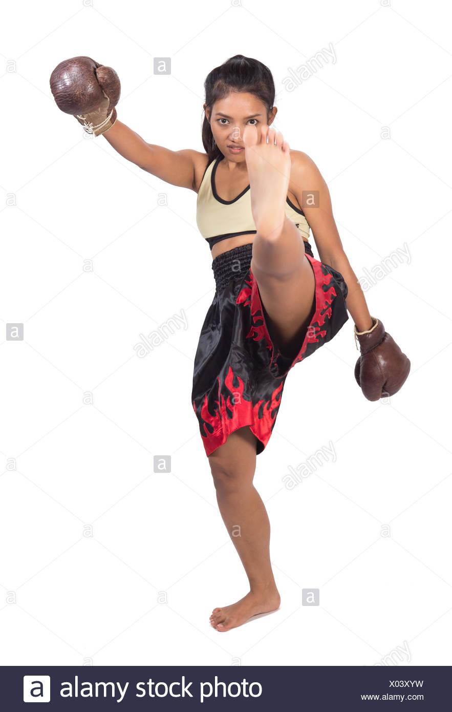 Thai women legs open dick