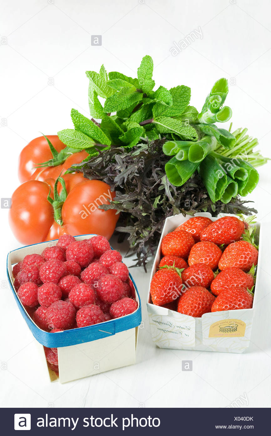 Back from the market - Stock Image