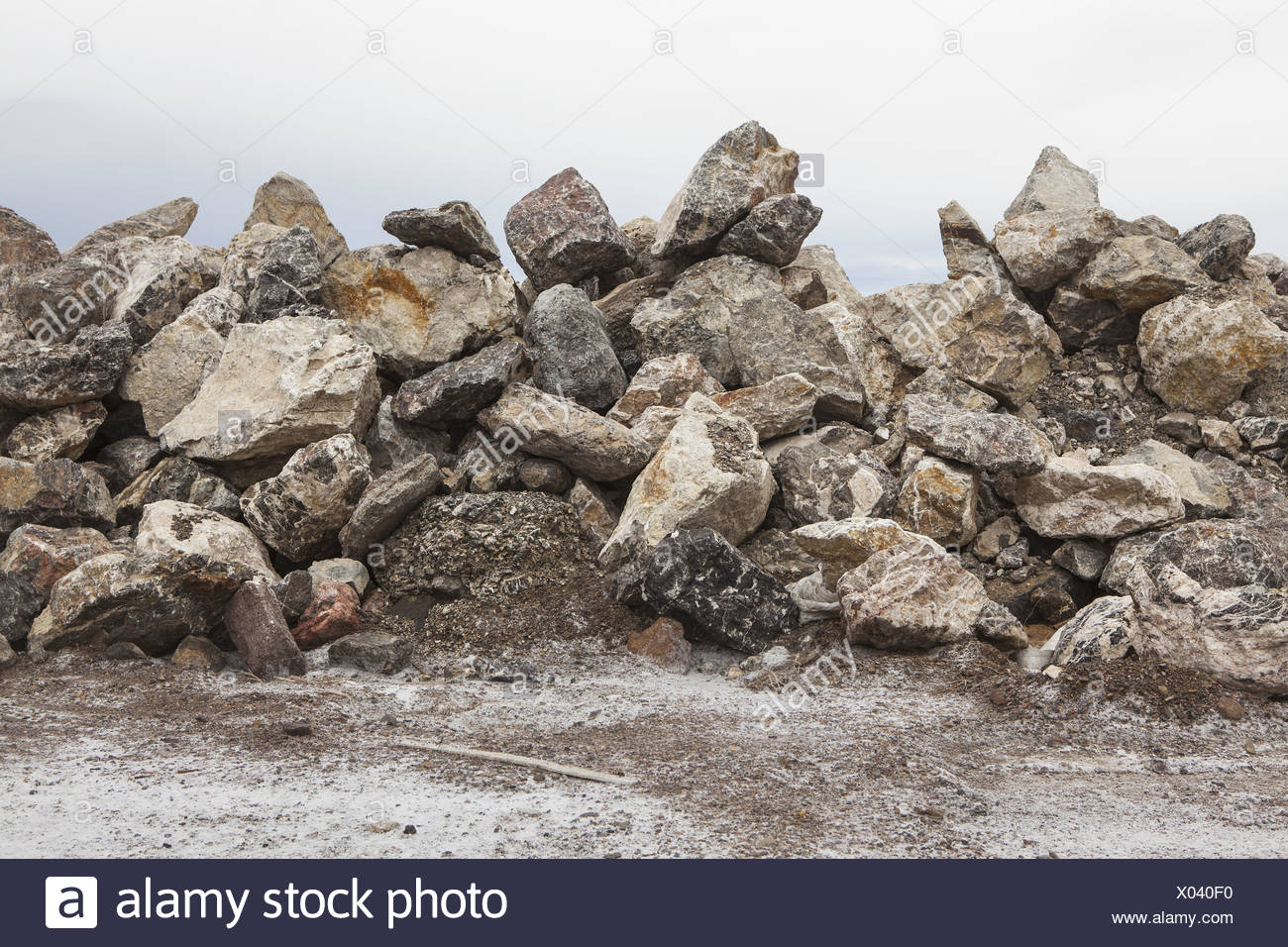 Utah USA large pile of rocks used for road construction - Stock Image