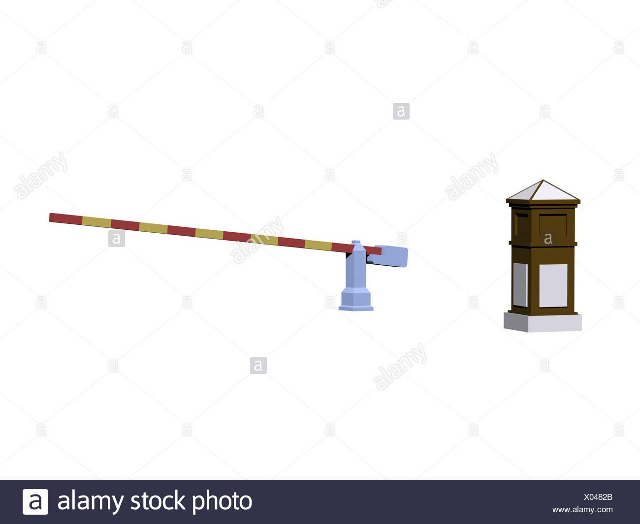 turnpike border fence exempted - Stock Image