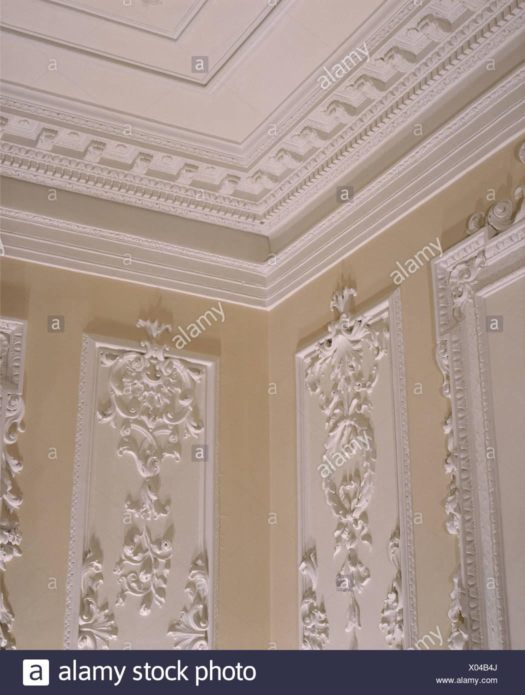 Plasterwork Ceilings Stock Photos & Plasterwork Ceilings