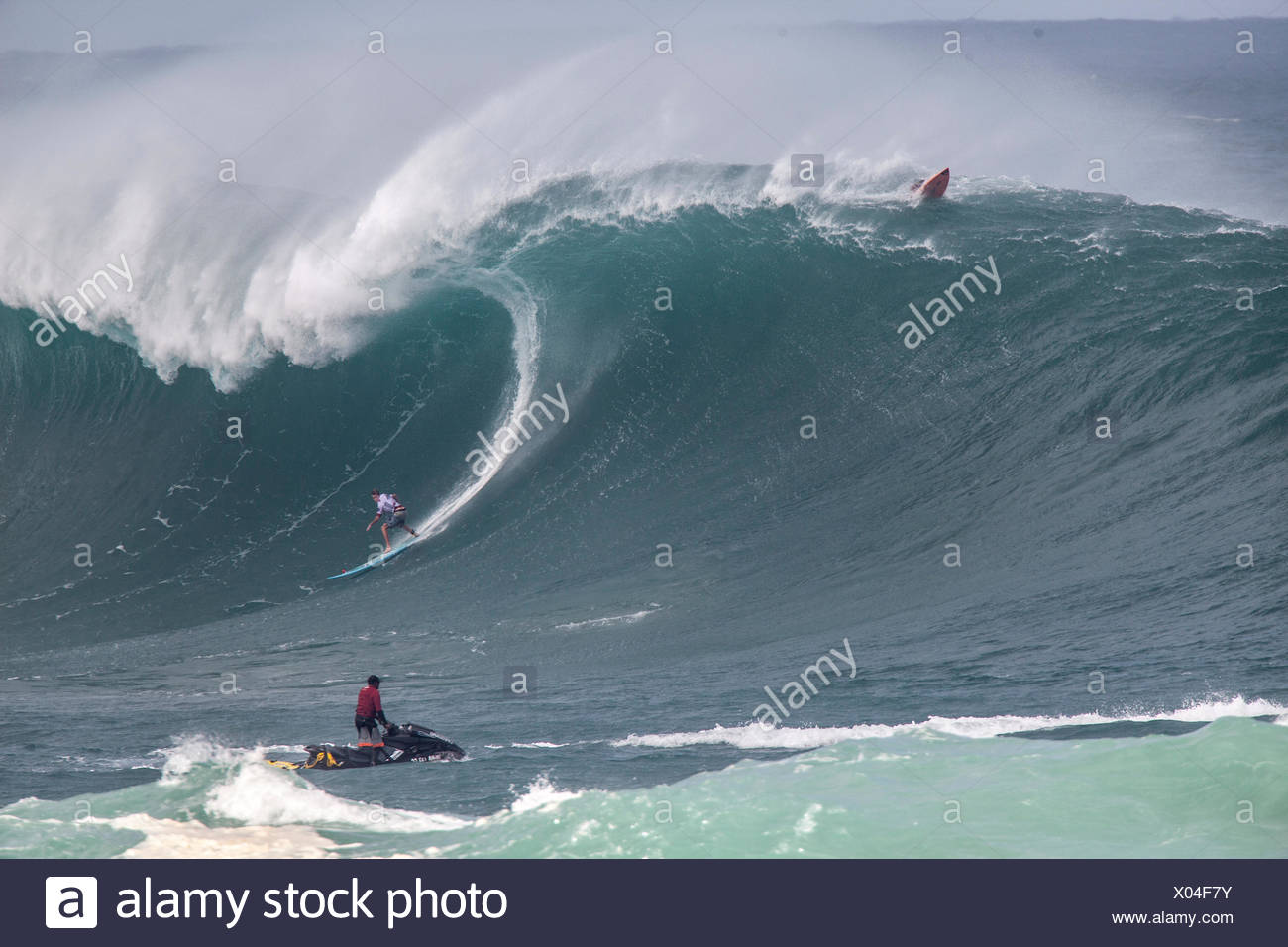 a89e0f92ce Mark healey surfing a huge wave at the Eddie Aikau invitational big wave  surfing event