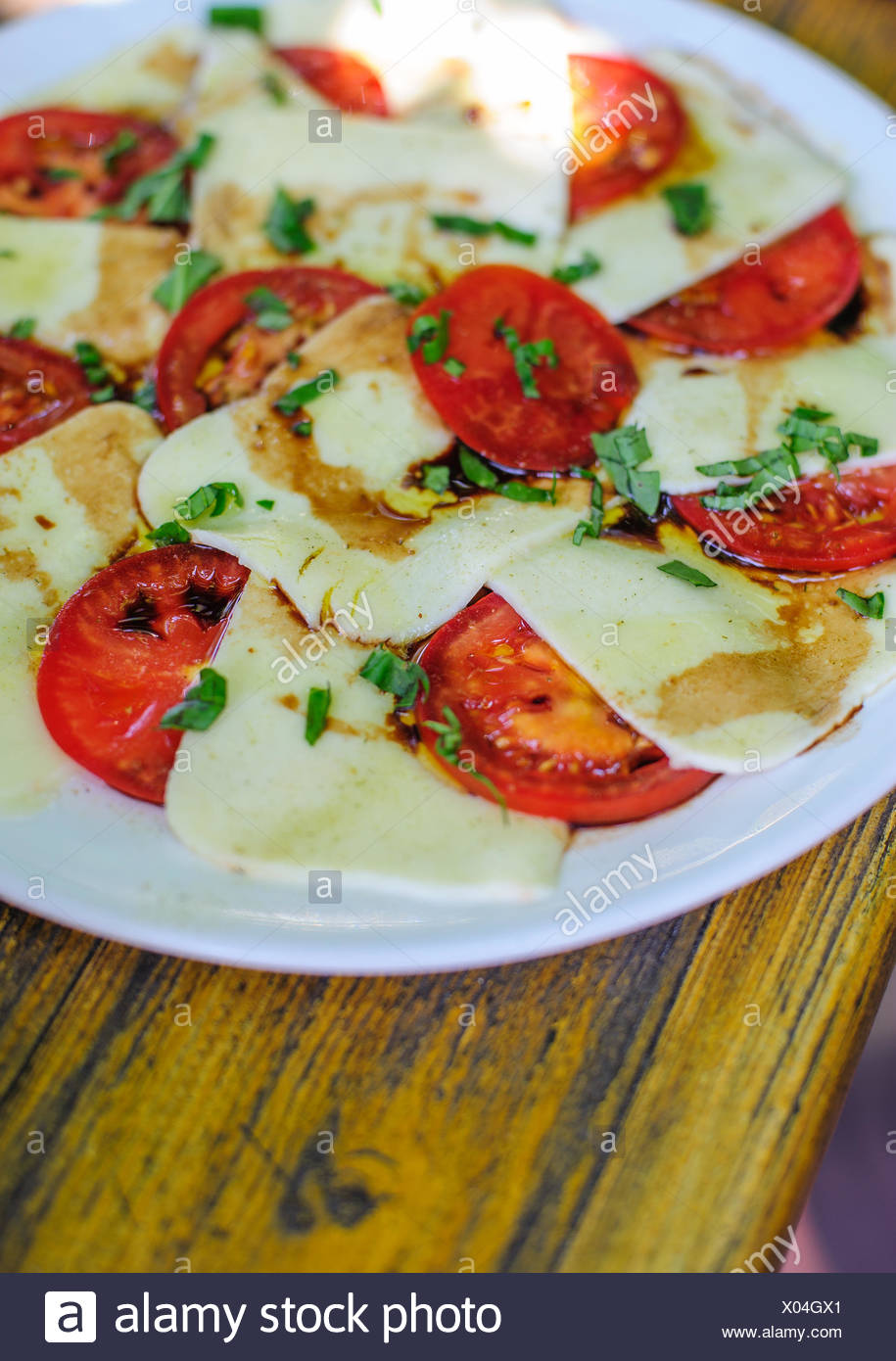 Tomatoe and Mozzarella - Stock Image