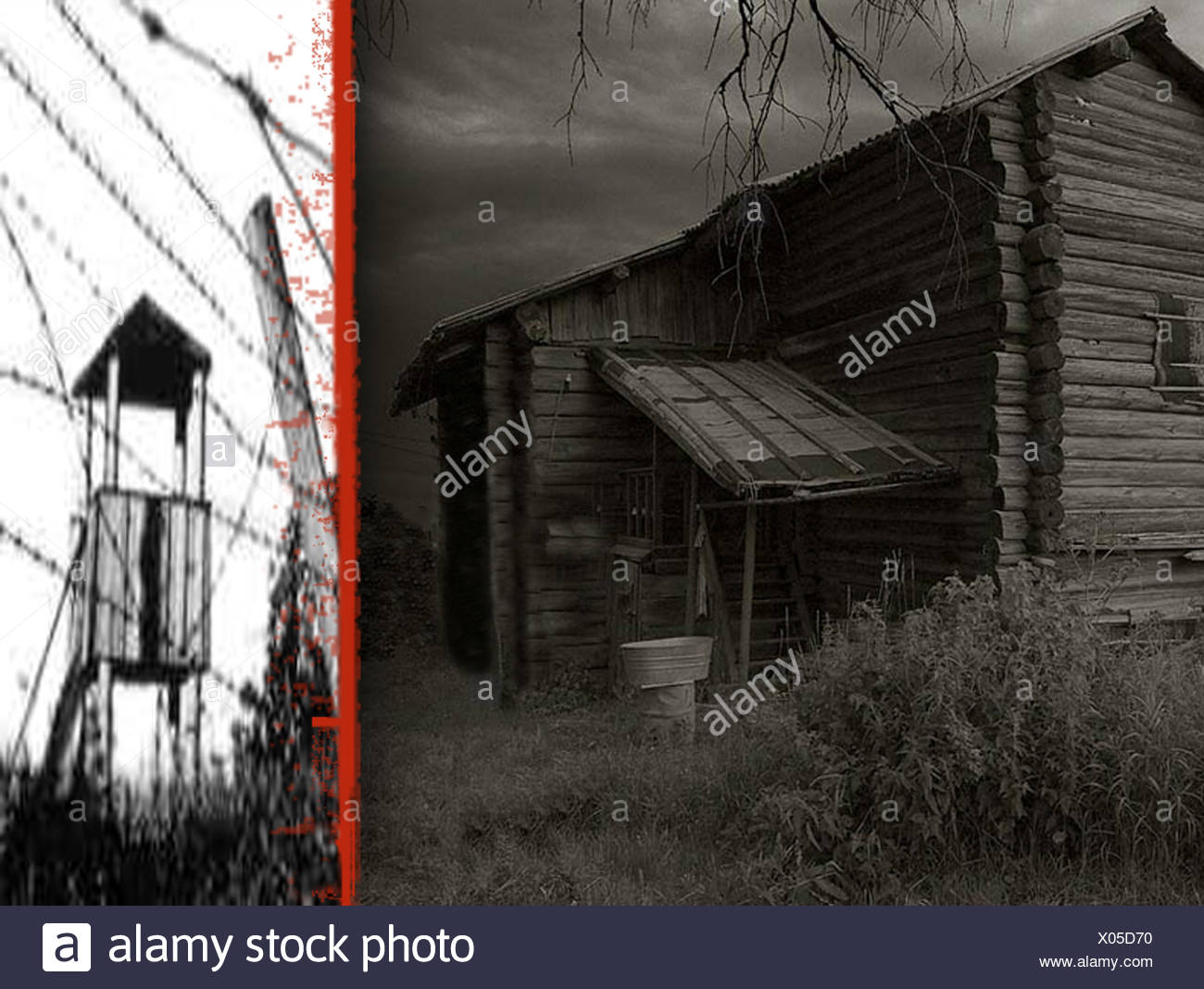 death hunger cold brig jail soviet union prison camp arrest arbitrariness gulag - Stock Image