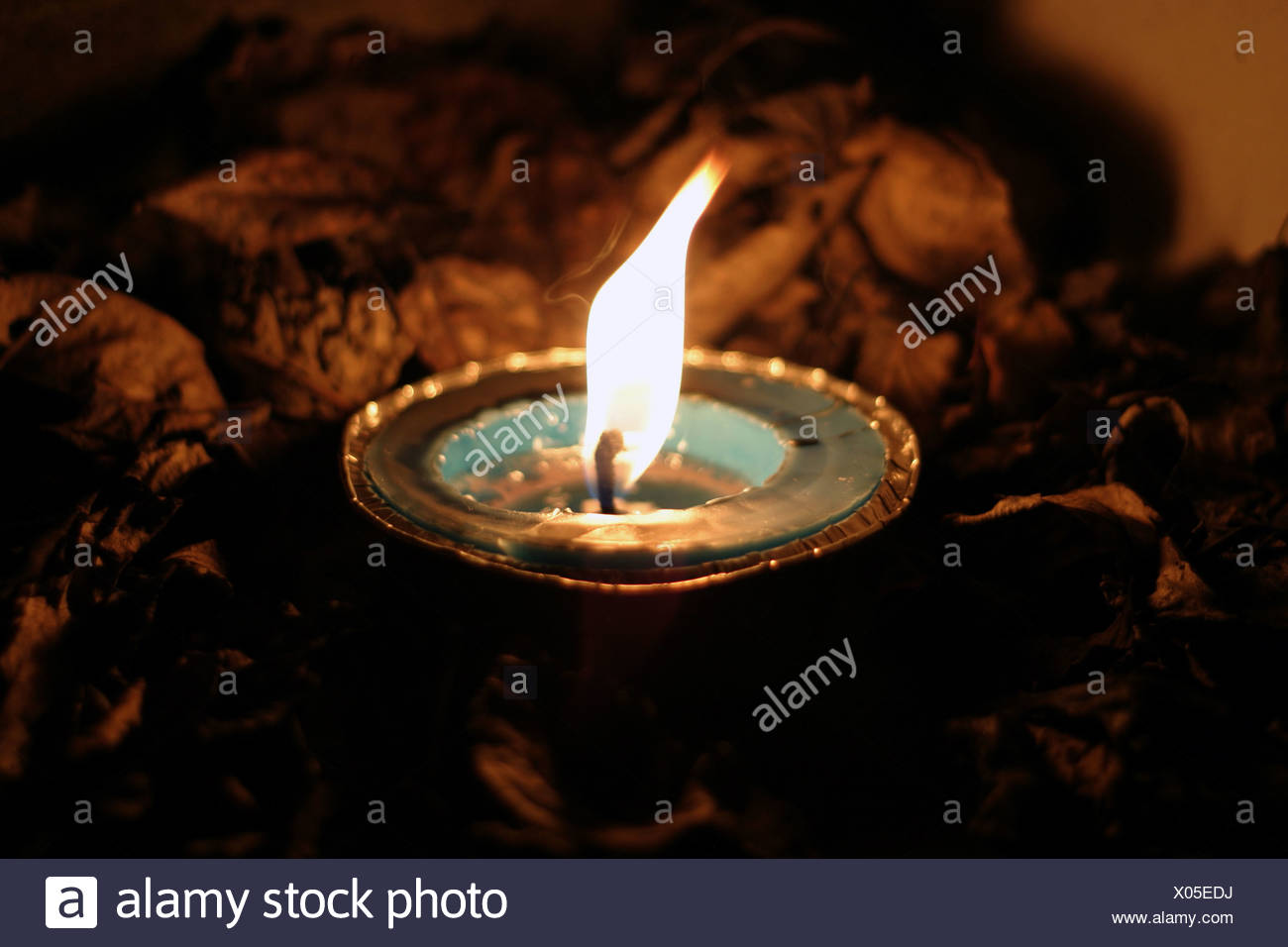 An oil lamp - Stock Image