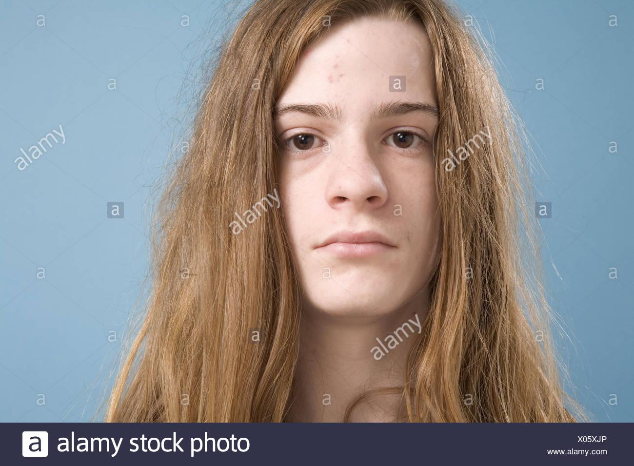 Teen Boy Long Hair Stock Photos & Teen Boy Long Hair Stock