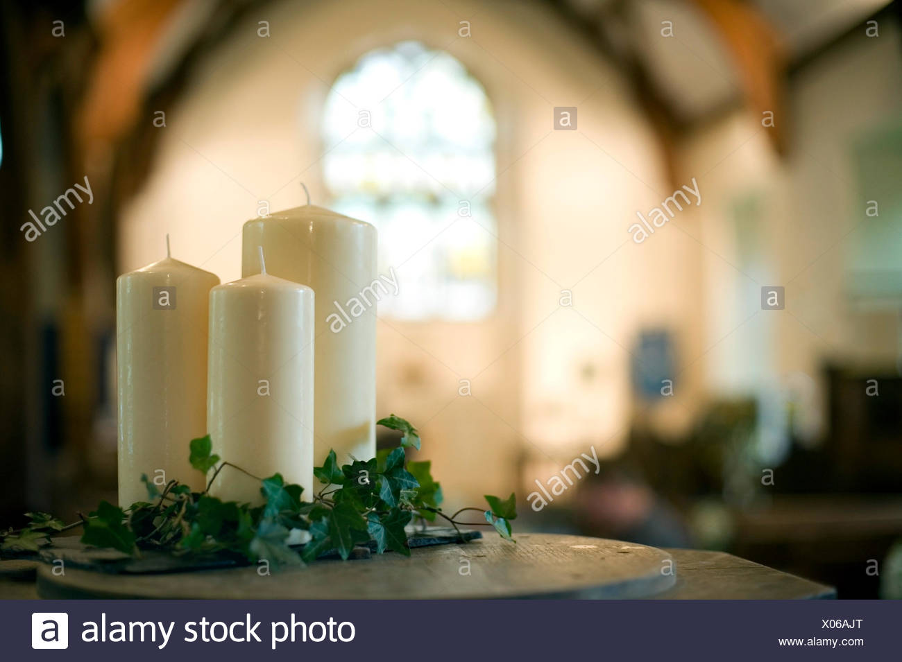 religion church candles - Stock Image