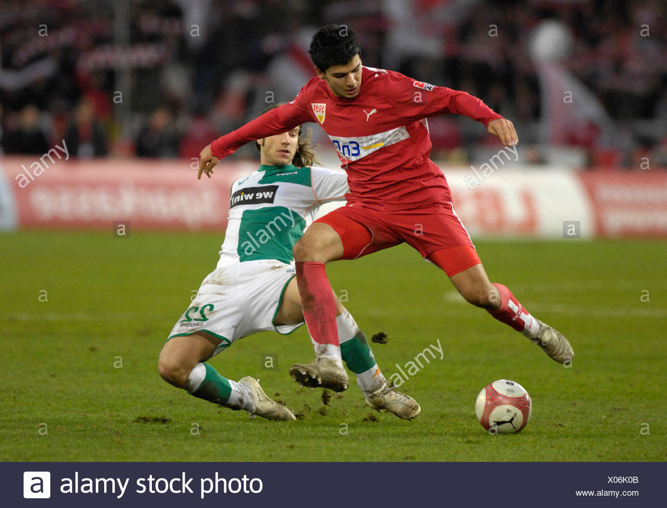 Serdar TASCI VfB Stuttgart (left) vs. Torsten FRINGS Werder Bremen (right) - Stock Image