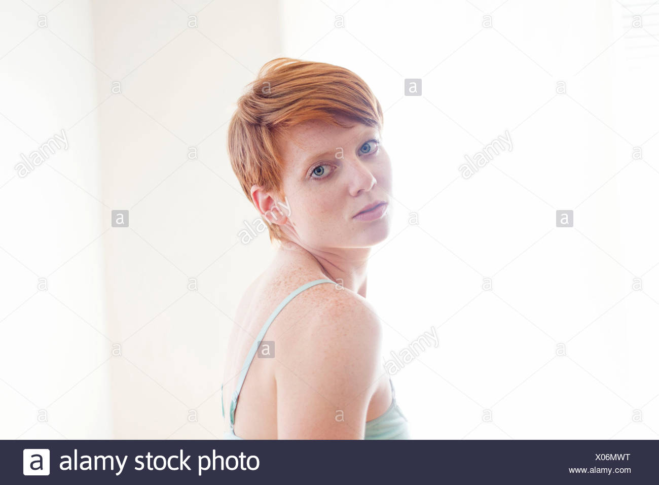 Red headed woman - Stock Image