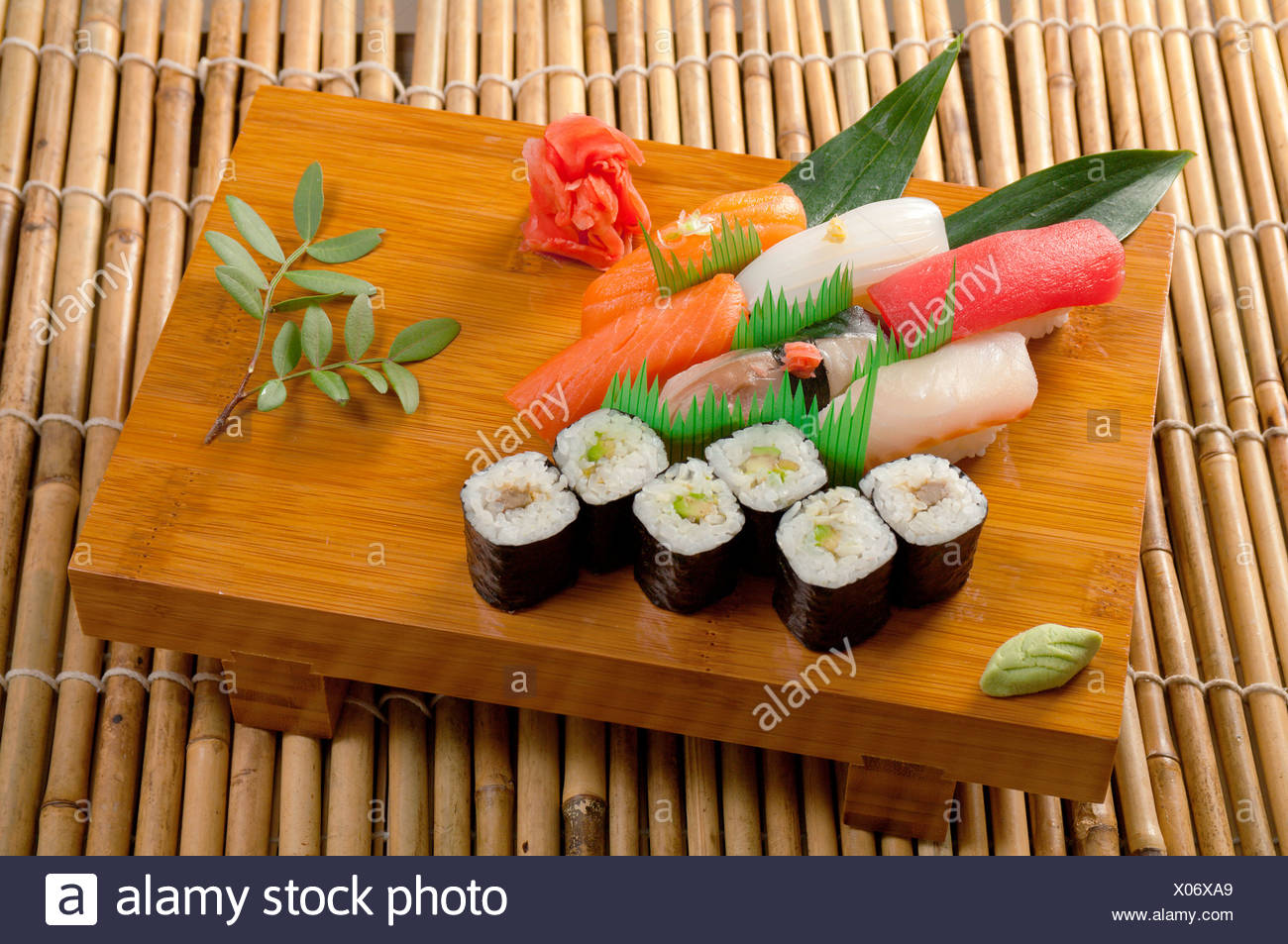 Japanese sushi  Roll made of Smoked fish - Stock Image