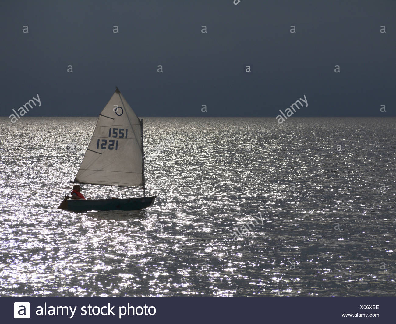 sailing in baltic sea, denmark - Stock Image