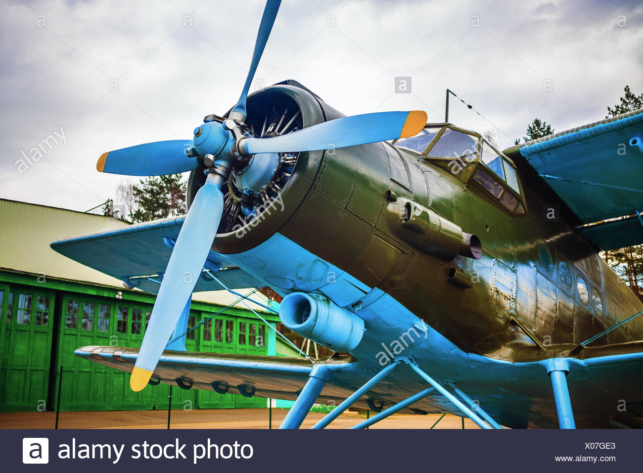 Fuselage of the airplane - Stock Image