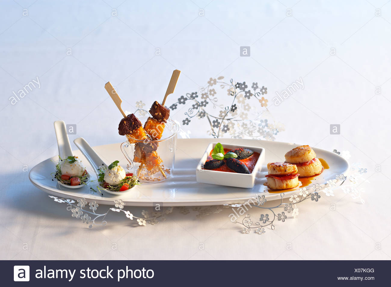cooking Salted Appetizer - Stock Image
