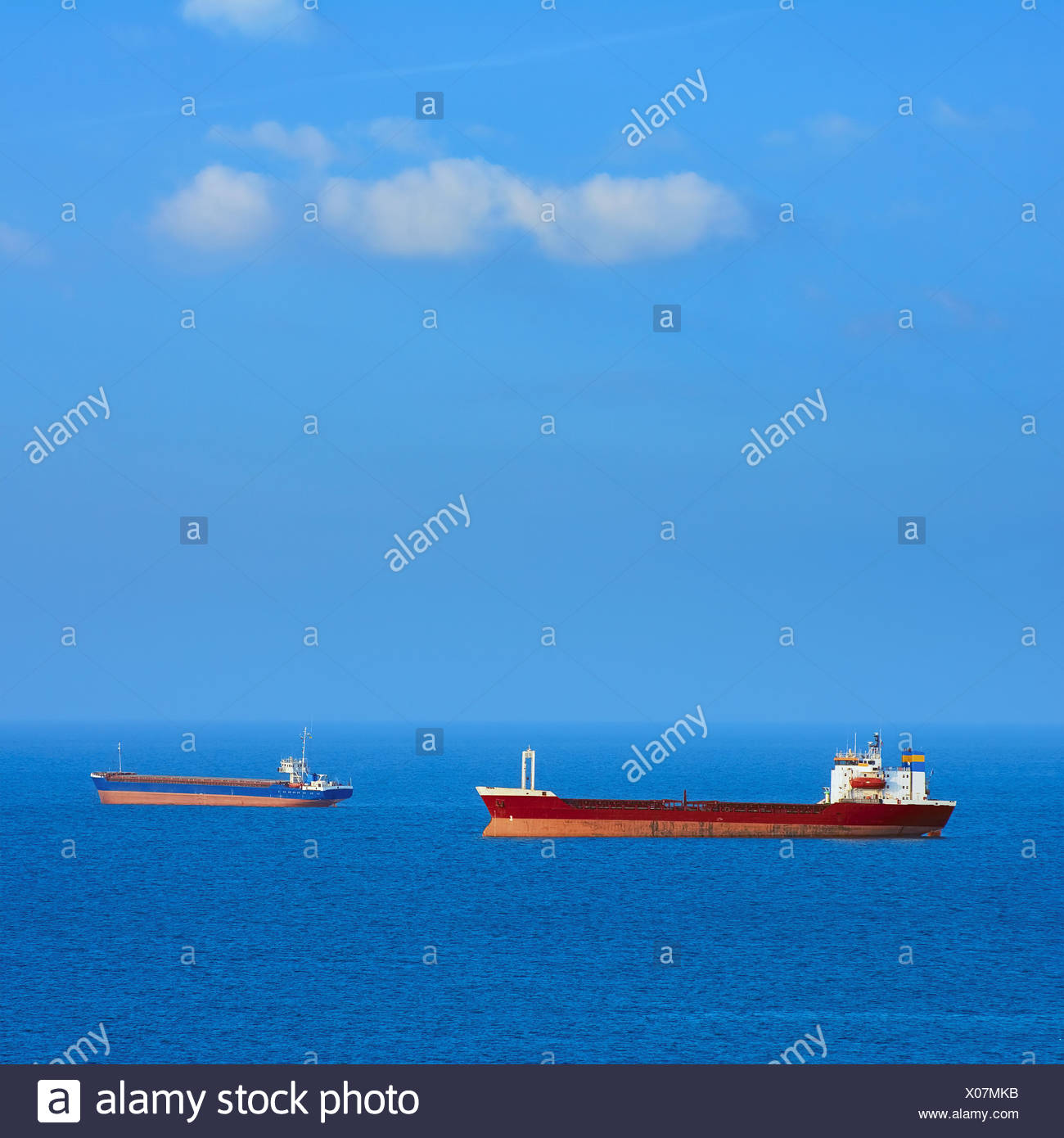 General Cargo Ships - Stock Image