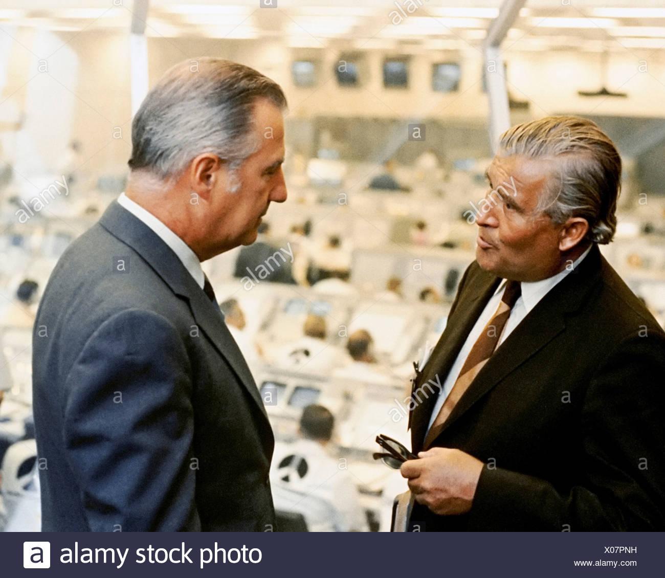 Wernher von Braun and Spiro Agnew - Stock Image