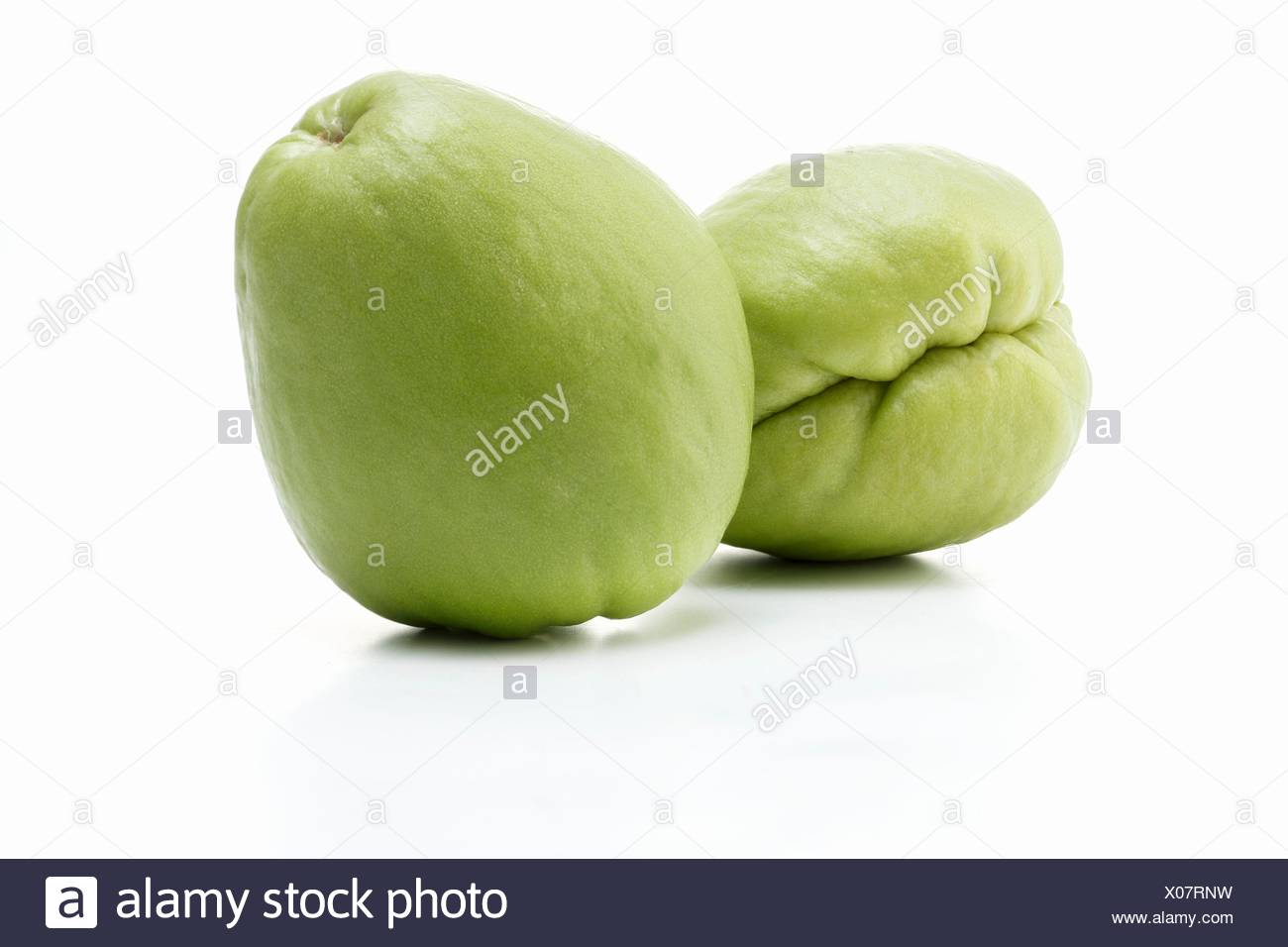 Two chayotes - Stock Image