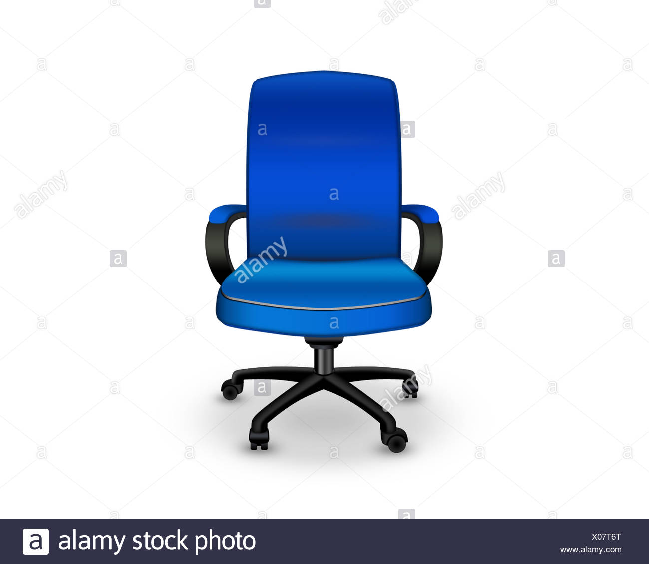 blue office chair - Stock Image