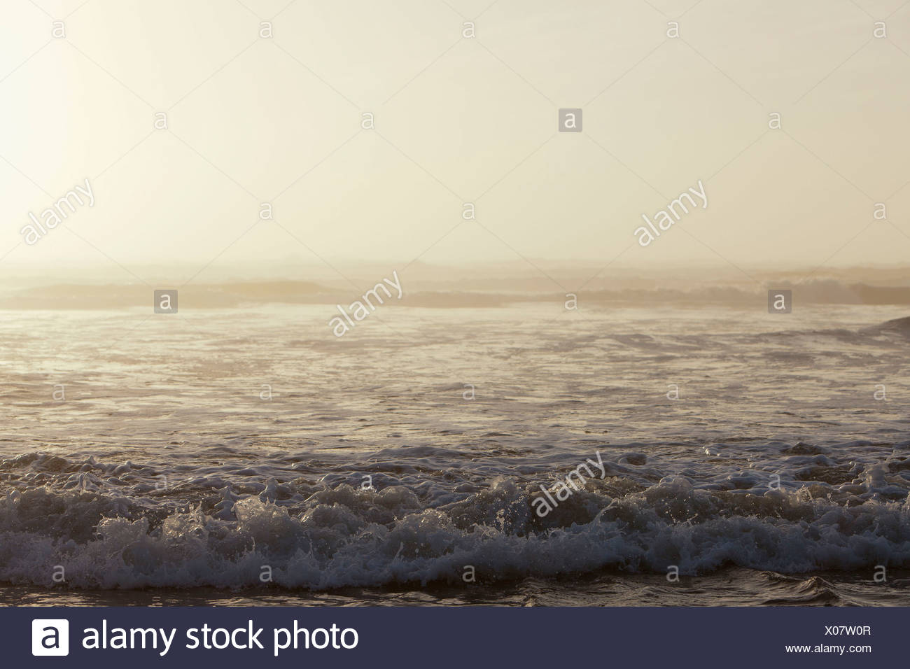 View from the coast over the ocean at Olympic national park. - Stock Image