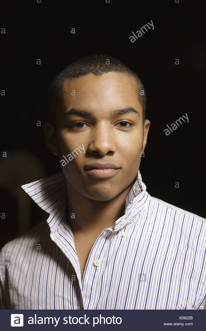 Portrait of a young man, Berkeley, California, USA - Stock Image