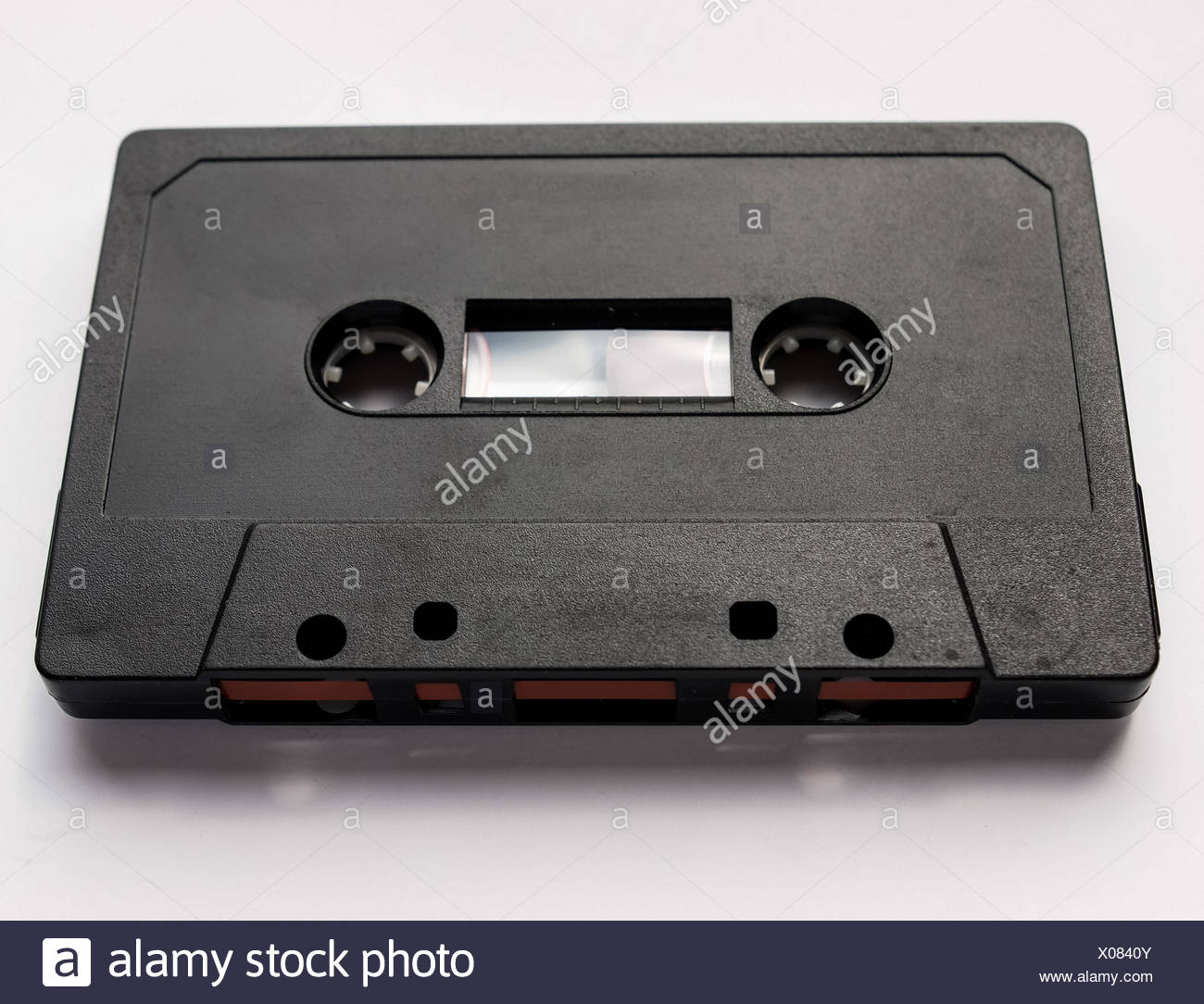 Black tape cassette - Stock Image