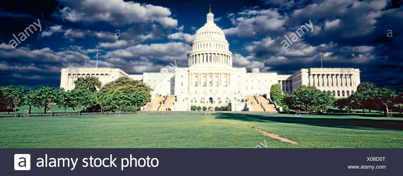 Digitally altered, high contrast image of the U.S. Capitol - Stock Image