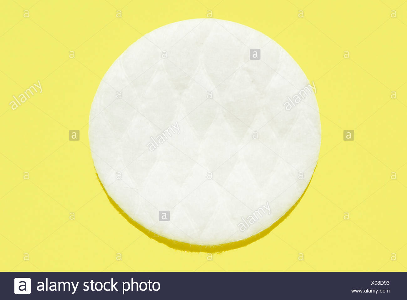 Cotton pad, elevated view - Stock Image