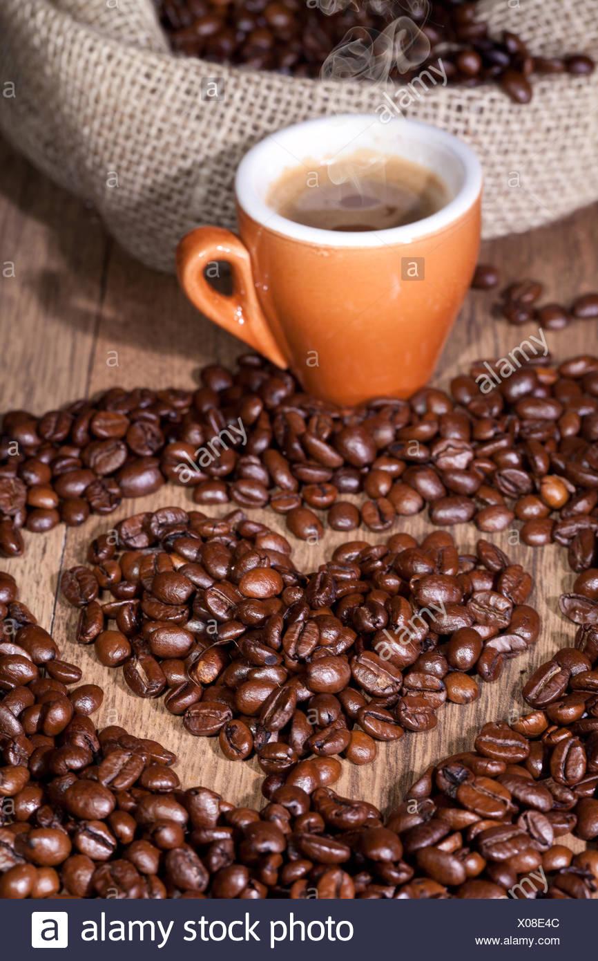 cafe espresso coffee - Stock Image