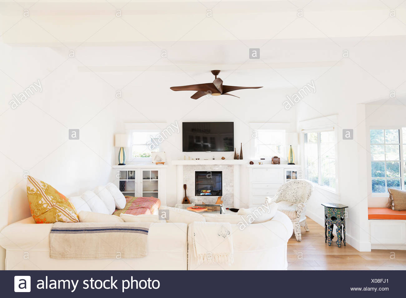 Ceiling Fan Home Ceiling Stock Photos & Ceiling Fan Home Ceiling ...