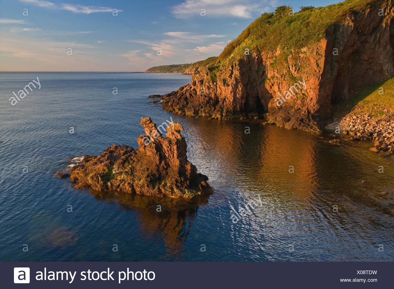 Denmark, bile coast Hammershus, - Stock Image
