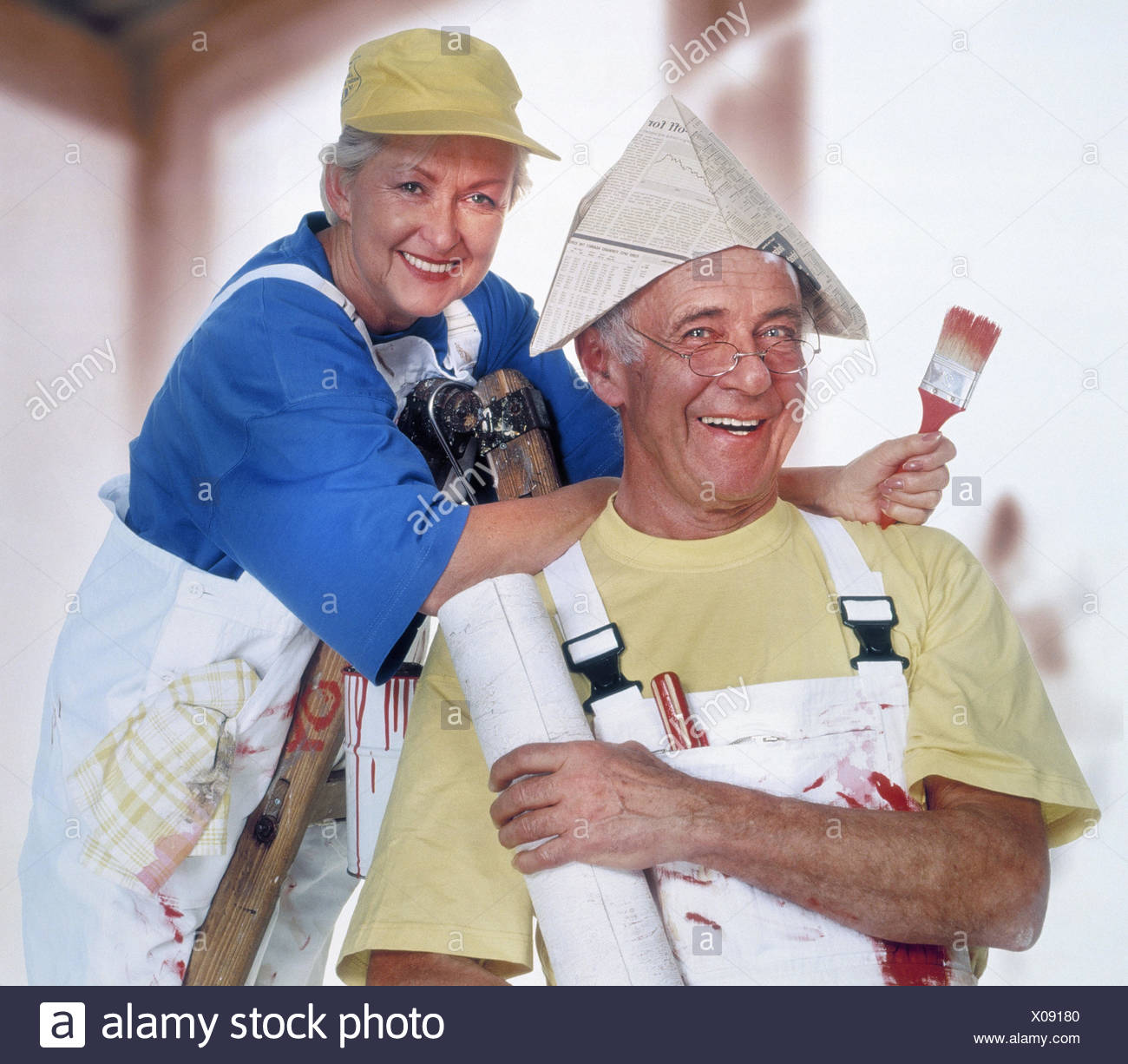 Do it yourself senior couple renovation wallpaper stock photos do do it yourself senior couple renovation colour conductor stand solutioingenieria Gallery