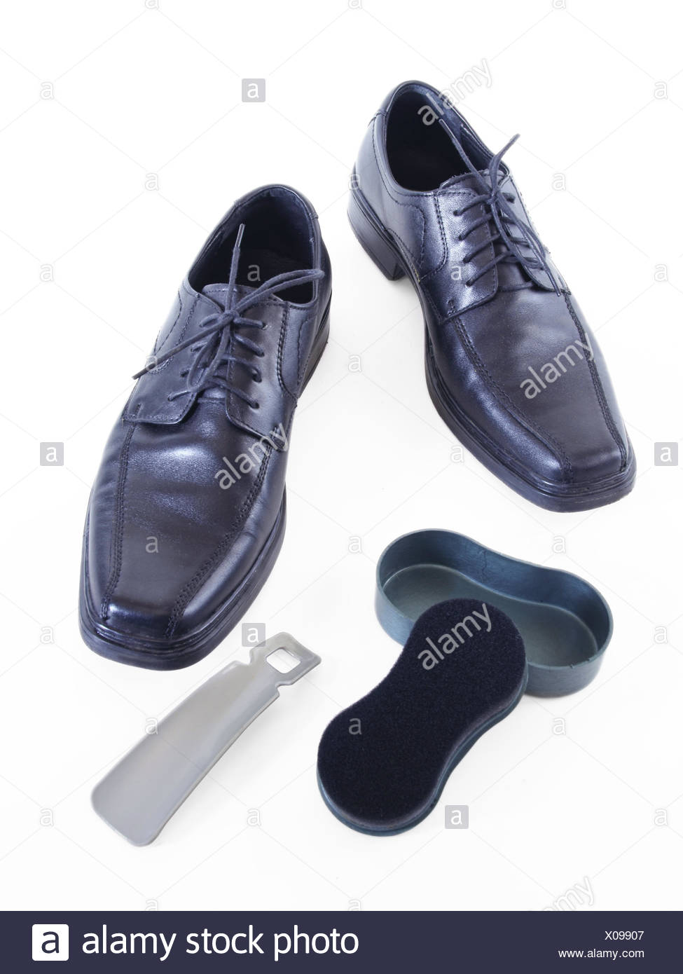 Male shoes and accessories for footwear Stock Photo
