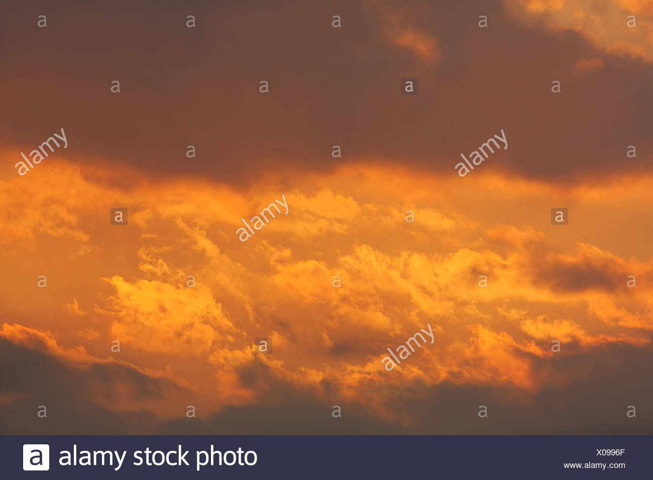 Background of colourful sky. - Stock Image
