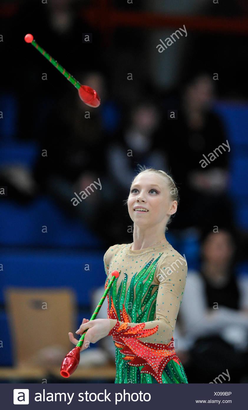 Rhythmic gymnastics, Kseniya MOUSTAFAEVA, FRA, France - Stock Image