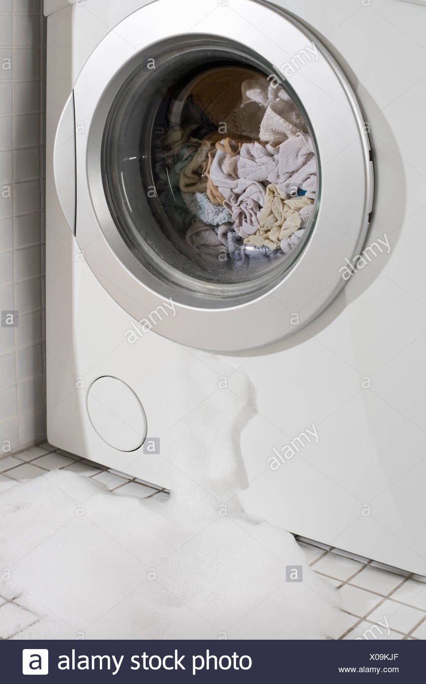 Washing Machine Leaking >> A Leaking Washing Machine Stock Photo 275578871 Alamy