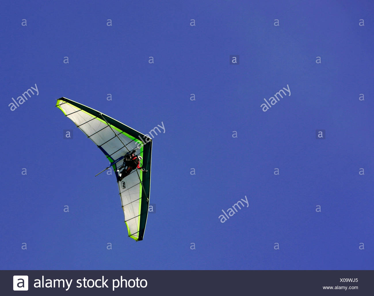 Tandem - hang glider pilot - Stock Image