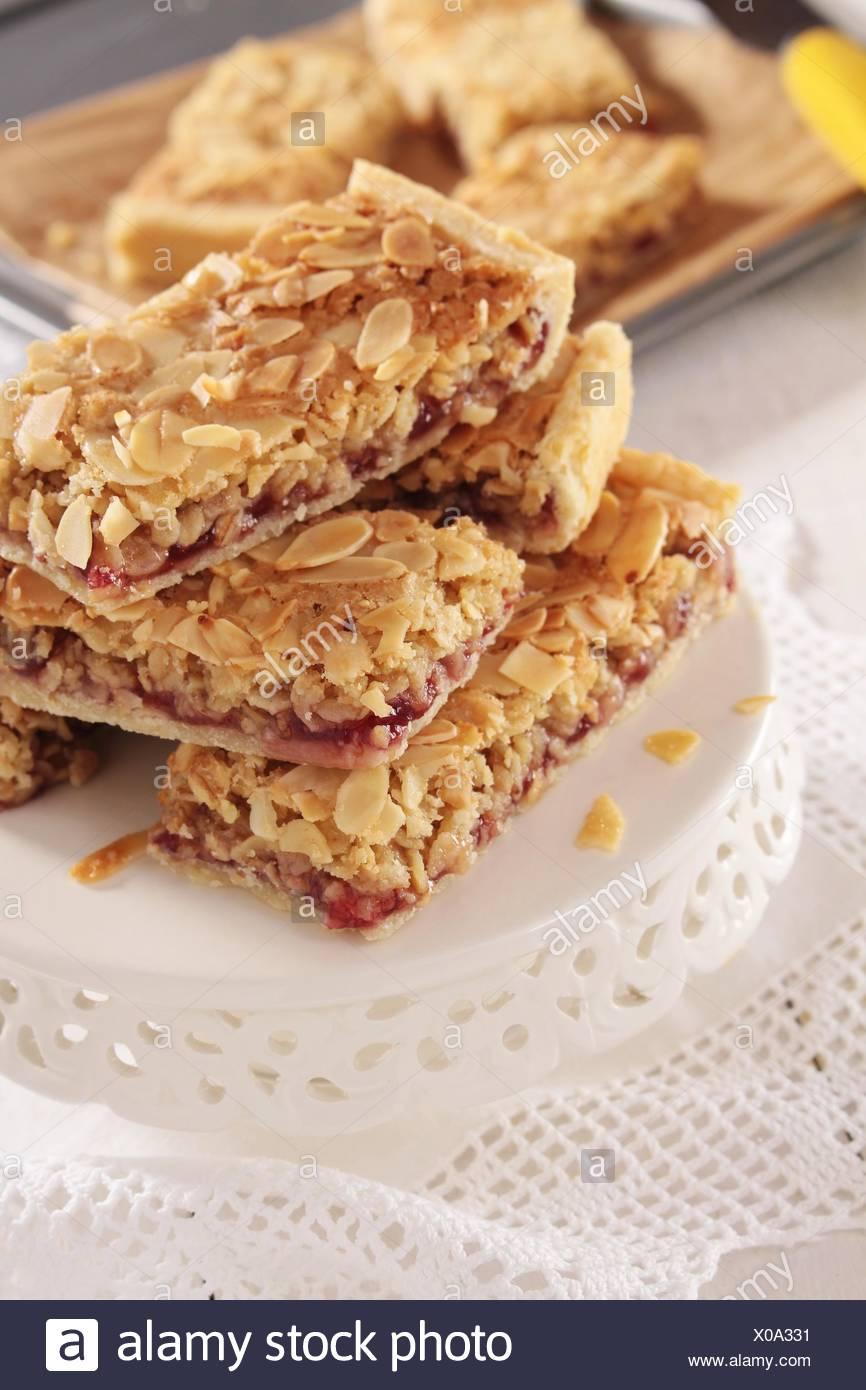 almond slice - Stock Image