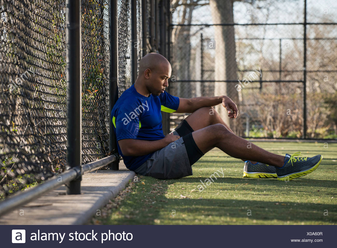 Man in contemplation - Stock Image