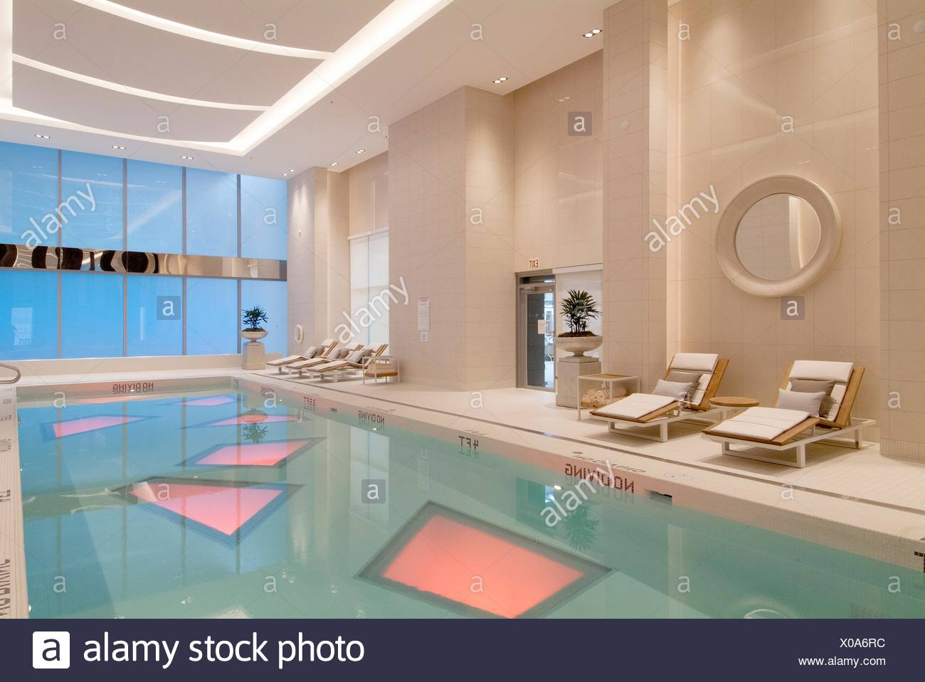 swimming pool at the Rosewood Hotel Georgia, Vancouver, BC, Canada Stock Photo
