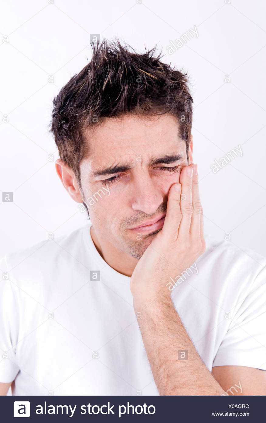 man with toothaches - Stock Image
