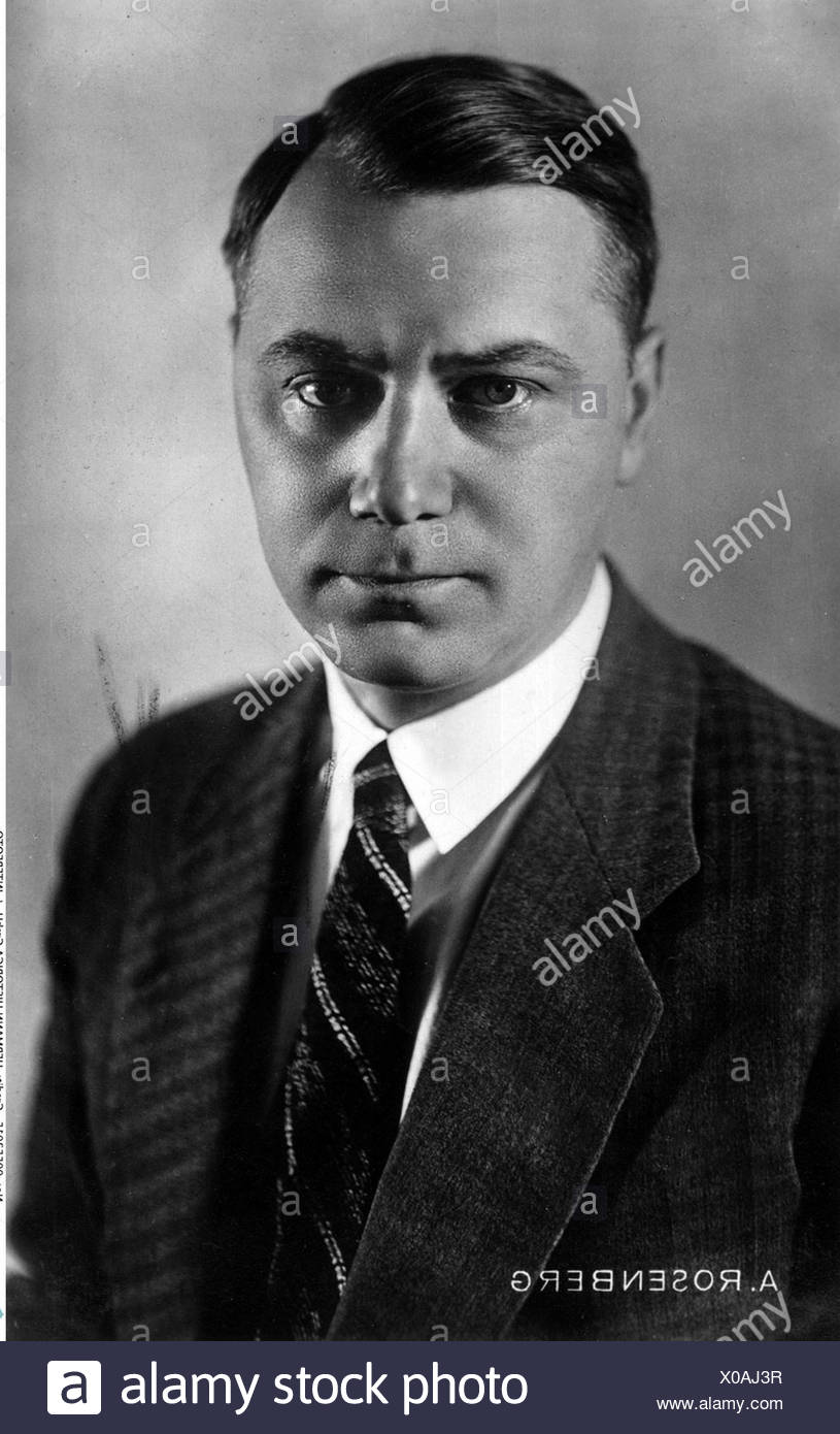 Rosenberg, Alfred, 13.1.1893 - 16.10.1946, German politician, Head of NSDAP Foreign Affairs Office 1933 - 1945, portrait, 1930s, 30s, Nazi Germany, Third Reich,  national socialism, 20th century, , Additional-Rights-Clearances-NA - Stock Image