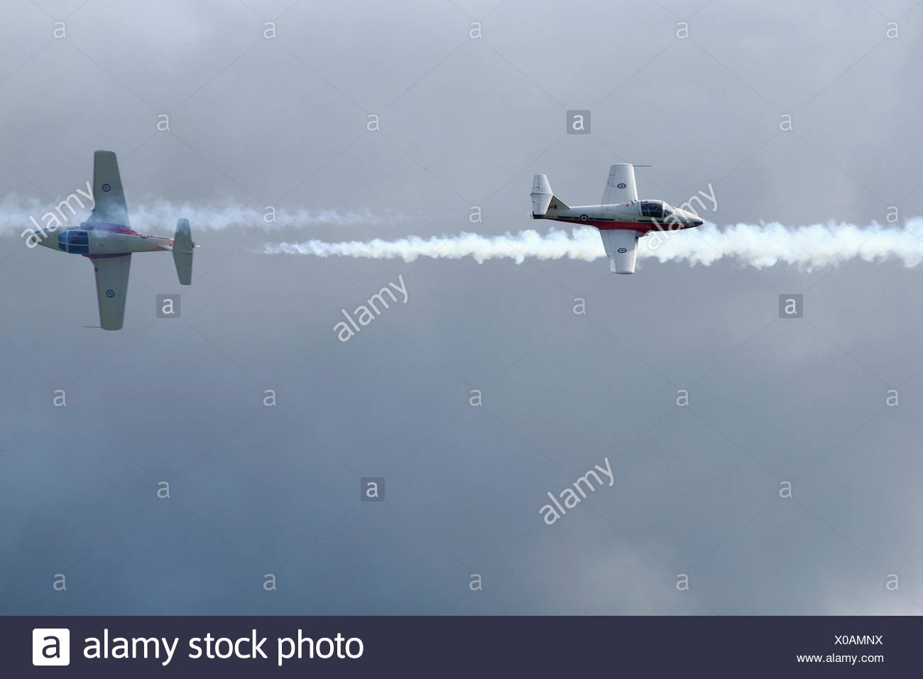 The Canadian Forces Snowbirds aerobatic team, air show, Bromont, Eastern Townships, Quebec Province, Canada, North Americ - Stock Image