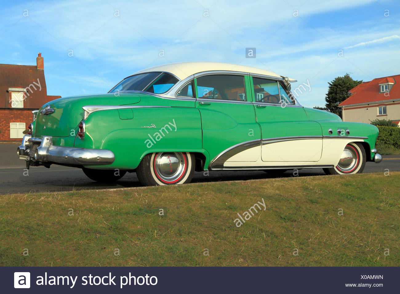Buick Eight Super, iconic vintage U S A, American automobile, motorcar car saloon 1950s historic cars motorcars automobiles - Stock Image