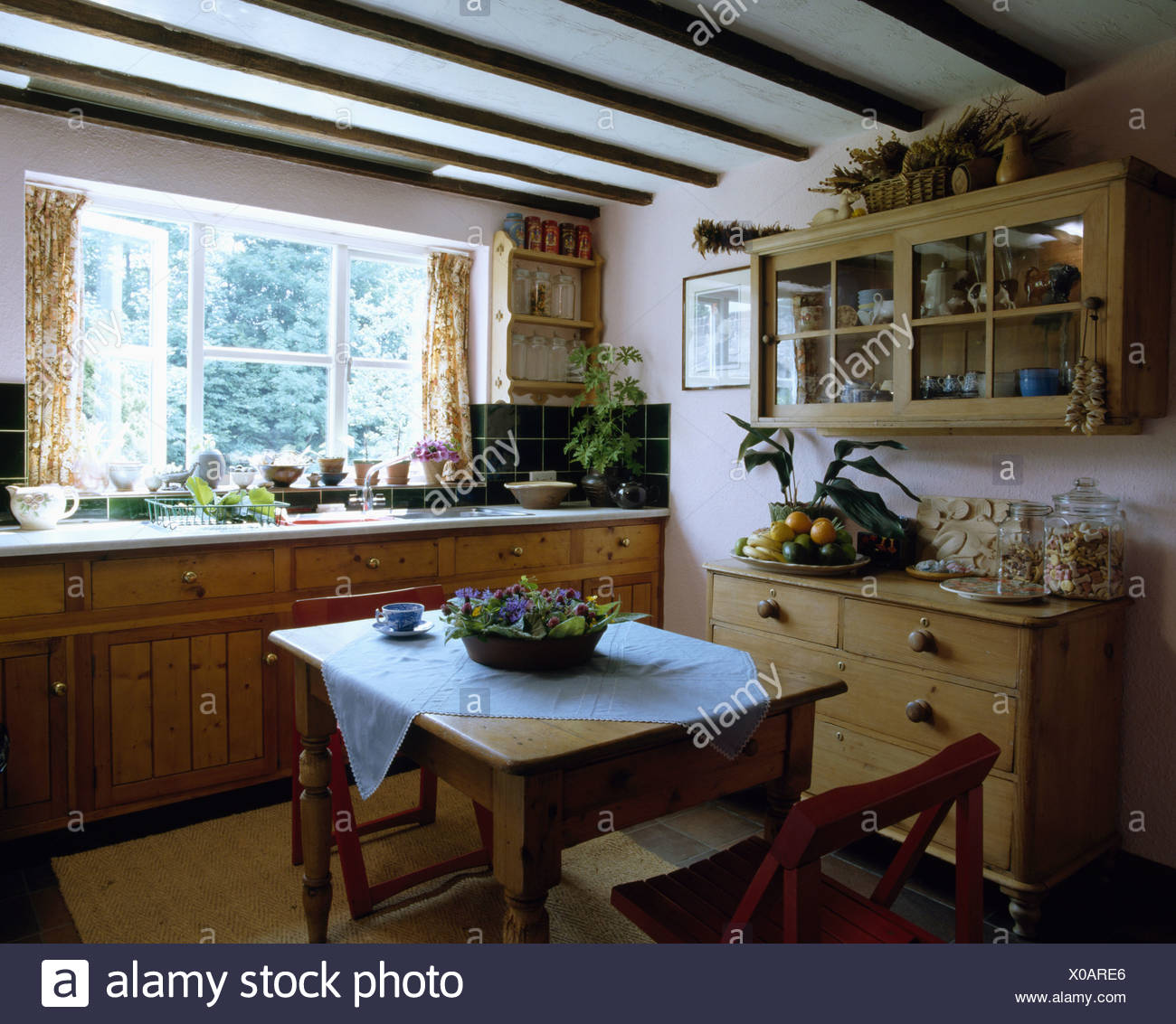 Small Country Kitchens Domestic Stock Photos & Small