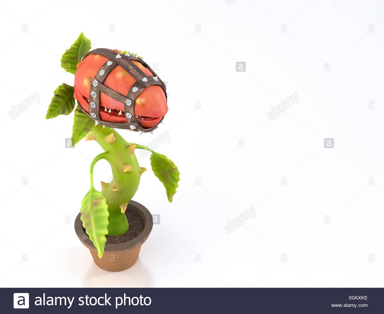 Carnivorous plant with muzzle - Stock Image