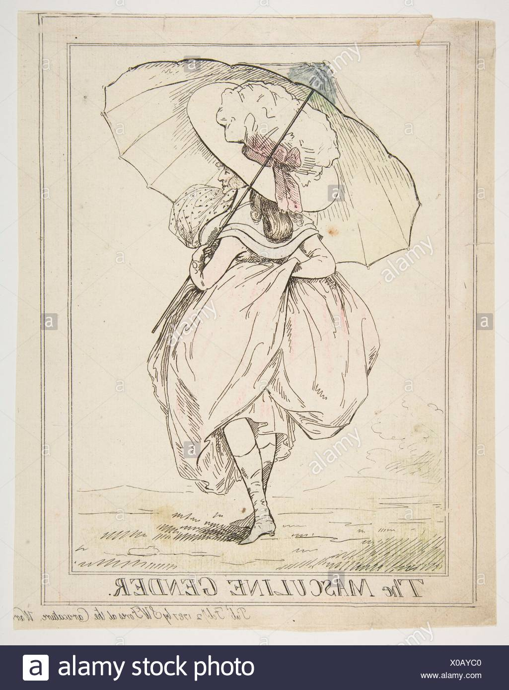 The Masculine Gender. Artist: Attributed to Henry Kingsbury (British, active ca. 1775-98); Publisher: Samuel William Fores (British, 1761-1838); - Stock Image
