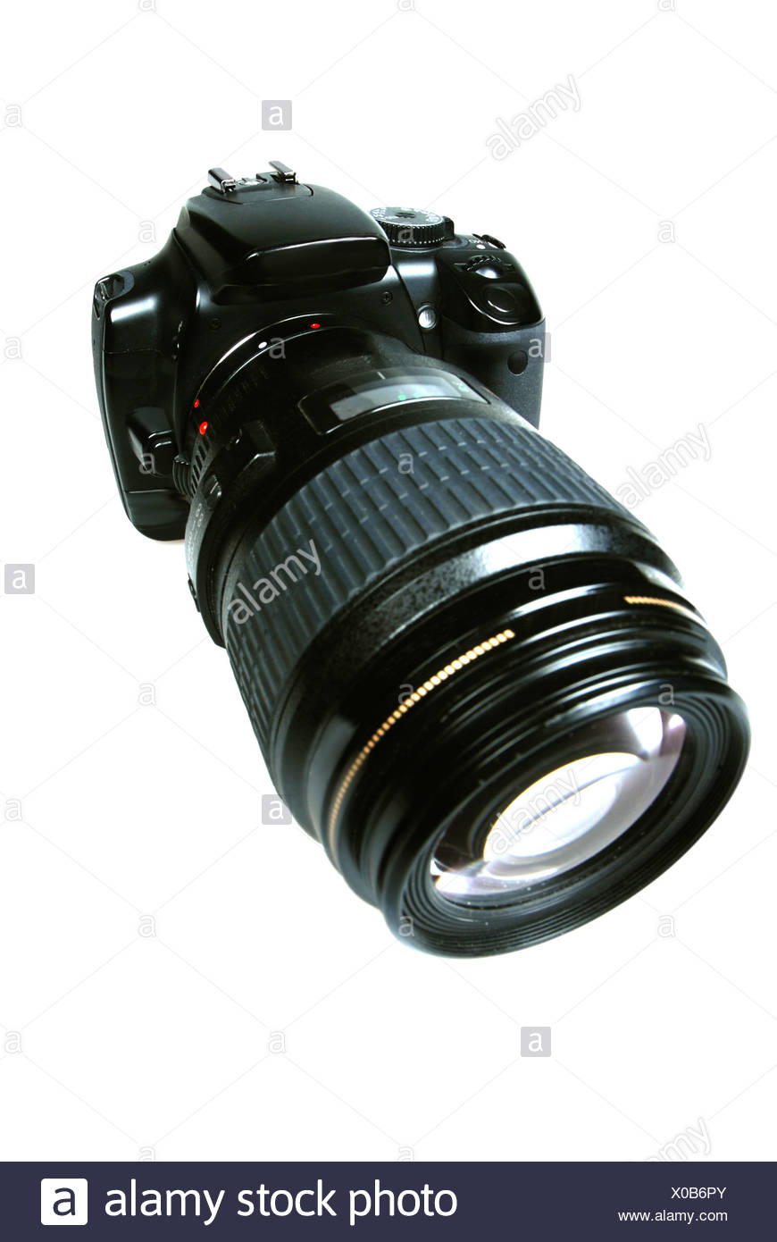 An SLR Camera with a large lens - Stock Image