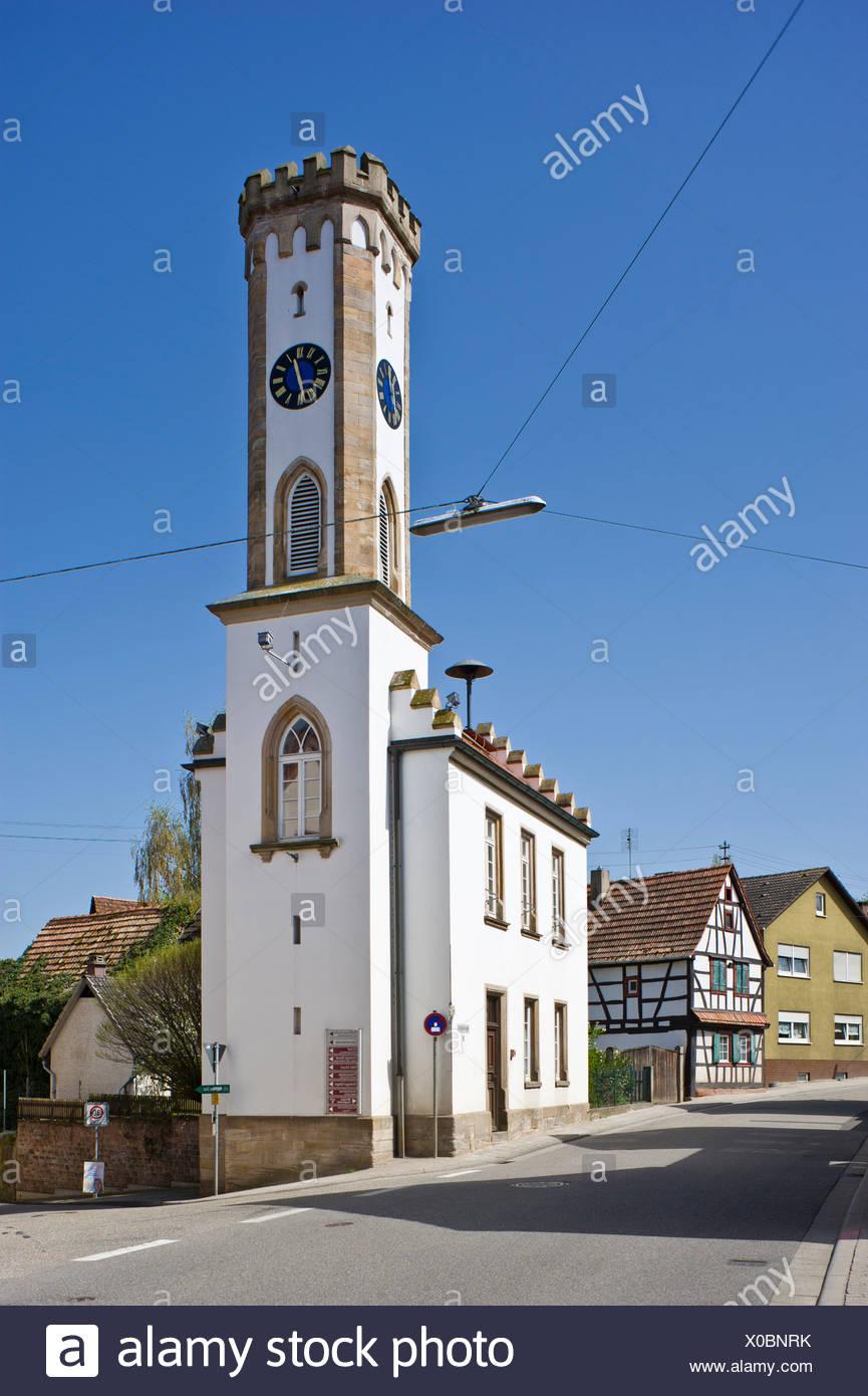 Tuermel tower, Oberhausen, Pfalz, Rhineland-Palatinate, Germany, Europe Stock Photo