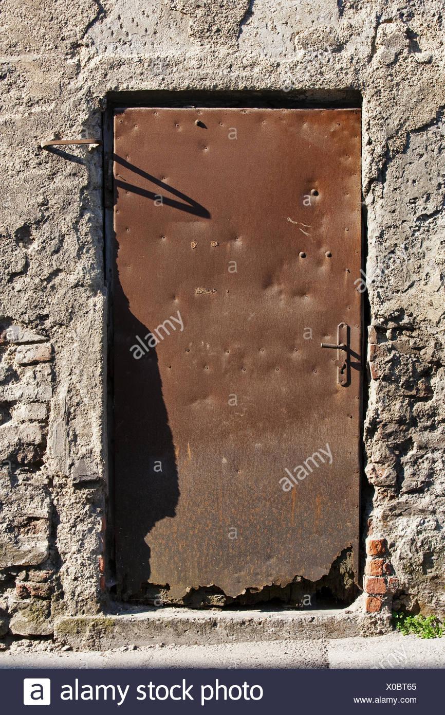weathered door - Stock Image